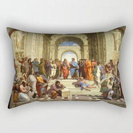 School Of Athens Painting Rectangular Pillow