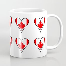 flag of canada 5-canadian,canadien,canadiense,ottawa,toronto,montreal. Coffee Mug