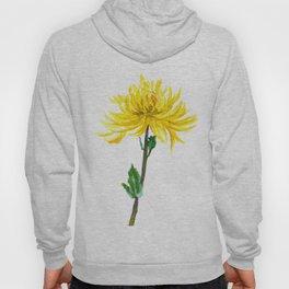 one yellow chrysanthemum Hoody