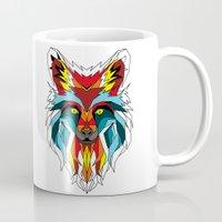wolf Mugs featuring Wolf by mark ashkenazi