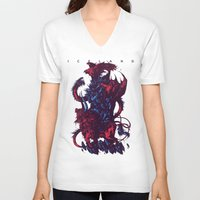 iceland V-neck T-shirts featuring Iceland by Ivan Belikov
