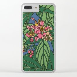ayahuasca flower Clear iPhone Case
