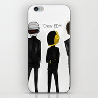 edm iPhone & iPod Skins featuring Crew EDM by American Mornings