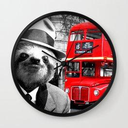 Sloth in London Wall Clock