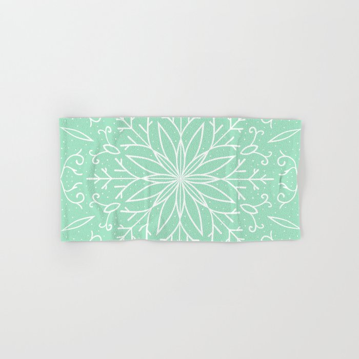 Mint Green Bath Towels Enchanting Single Snowflake Mint Green Hand Bath Towel By Peppermintcreek