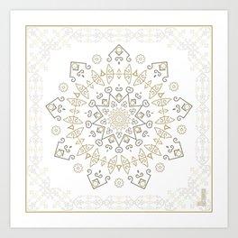 Snow Deco Art Print