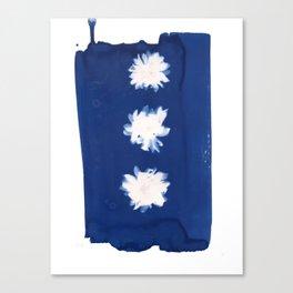Poppies II - Cyanotype Canvas Print