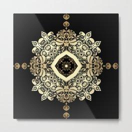 Golden Eastern ornament . Metal Print