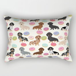 Dachshund weener dog donuts cutest doxie gifts for small dog owners Rectangular Pillow
