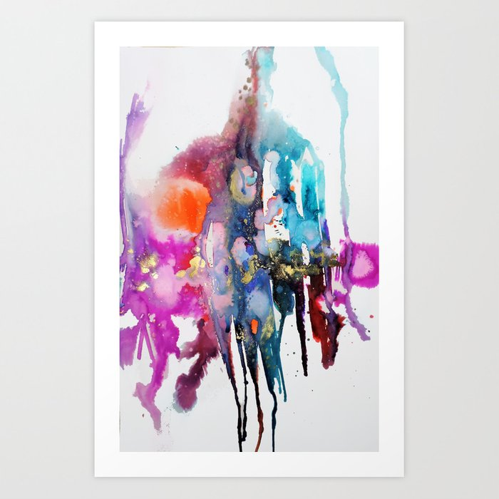 alive and walking (abstract) Art Print