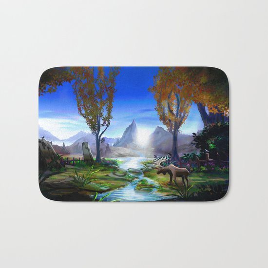 Light from the Mountains Bath Mat