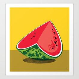 Watermelon Valentine No:2 Art Print