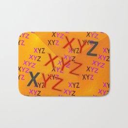 XYZ - pattern Bath Mat