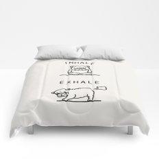 Inhale Exhale English Bulldog Comforters