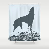 canada Shower Curtains featuring Visit Canada by ahutchabove