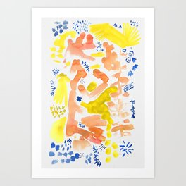 Abstract Floral II | Color 2 Art Print