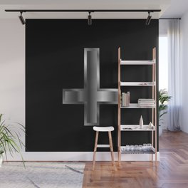 An inverted cross- The Cross of Saint Peter used as an anti-Christian and Satanist symbol. Wall Mural