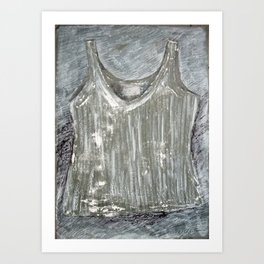 Gray shirt Art Print