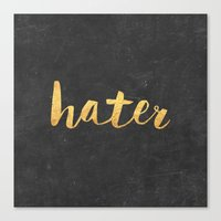 2pac Canvas Prints featuring Hater by Text Guy