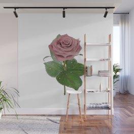 Single Standing Rose (Light Pink) Wall Mural