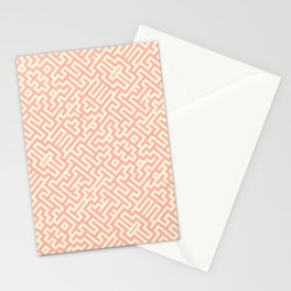 Magic Maze, Peaches and Cream Vector Pattern Stationery Cards