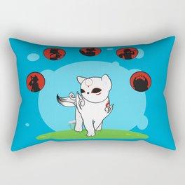 Chibiterasu +INKED+ Rectangular Pillow
