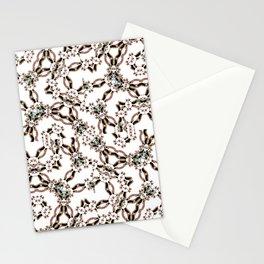 Luxury Modern Fractal Print Stationery Cards