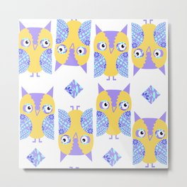 Owls pattern 43u Metal Print