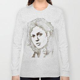 Ellen Ripley sketch- Sigourney Weaver- Alien Long Sleeve T-shirt