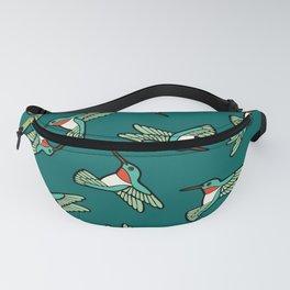 Hummingbird Pattern Fanny Pack