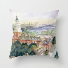 Harvard University Throw Pillow