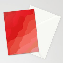 vague rouge Stationery Cards