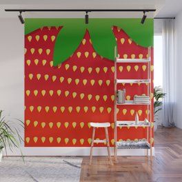 Strawberry Up Close Wall Mural