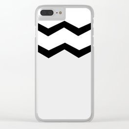 Geometric abstract - zigzag, gray, blak and white. Clear iPhone Case