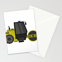 road roller Stationery Cards