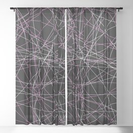 Colored Line Chaos #20 Sheer Curtain