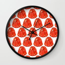 Jello Pattern Wall Clock