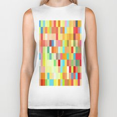 colorful rectangle grid Biker Tank