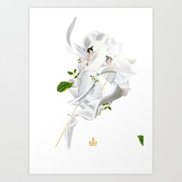 Royal Swan Art Print