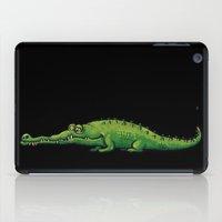 crocodile iPad Cases featuring Crocodile by chacomics