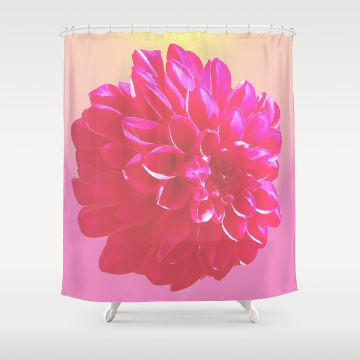 DAHLIA Shower Curtain By Vanillakalila