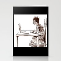 gamer Stationery Cards featuring Gamer by Jonas Ericson