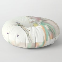a carnival ferris wheel & swings, the last days of summer ... Floor Pillow