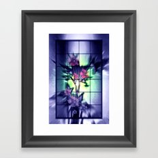 Windows to the nature. Framed Art Print