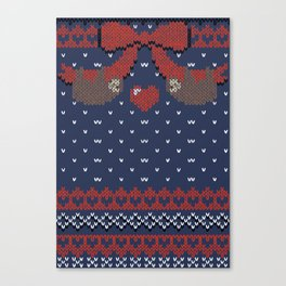 A Lazy Winter Sweater Canvas Print