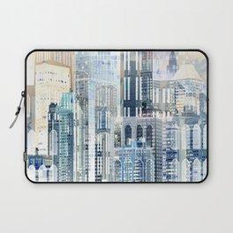 Blue City Scape Laptop Sleeve