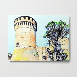 Brisighella: two towers of the castle Metal Print