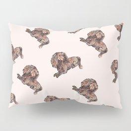 Dog Pattern 2 on Girly Pink Pillow Sham