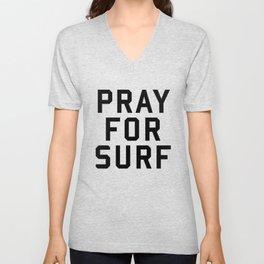 Pray For Surf Unisex V-Neck