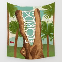 florida Wall Tapestries featuring Florida by Santiago Uceda